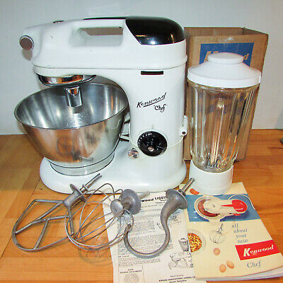 Original KENWOOD CHEF A700 A700A Vintage FOOD MIXER Liquidiser / stainless Bowl