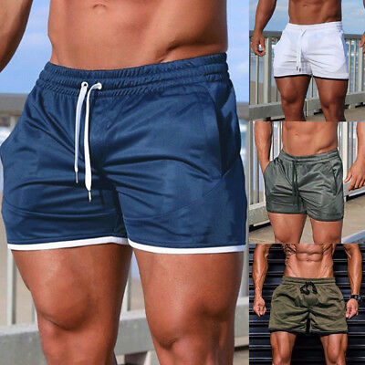 Men Short Pants Fitness Workout Gym Trunks Swimming Sports Pure Beachwear Shorts