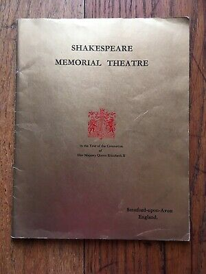 1953 SHAKESPEARE MEMORIAL THEATRE  FESTIVAL + 5 programmes + newspaper clippings