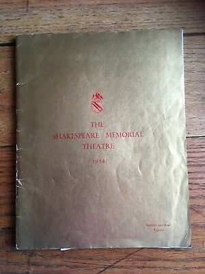 1954 SHAKESPEARE MEMORIAL THEATRE  FESTIVAL + 5 programmes + newspaper clippings