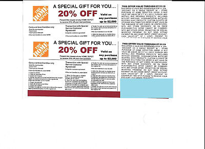 2 20% OFF HOME DEPOT Competitors to use at Lowe's exp 7/31/19
