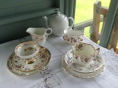Mis-matched vintage china wedding teaparty teaset choose colour/combination