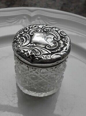 Sold Silver Topped Box - Dressing Table Item - Matthew John Jessop - 1900 ?