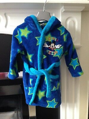 Disney Super Mickey - Boys Dressing Gown Size 18-23 Month