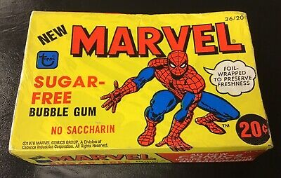 1978 Topps MARVEL COMICS Sugar-Free Bubble Gum Unopened Box - Foil Wrapped