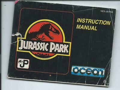 JURASSIK PARK NINTENDO NES - Notice - Instruction Manual