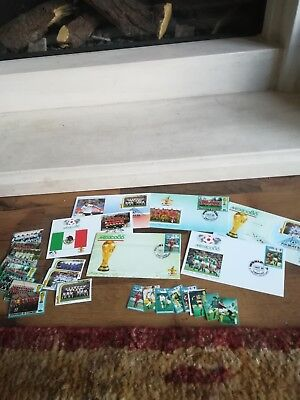 "1986 St. Vincent and Grenadines ""Mexico World Cup"" stamps"