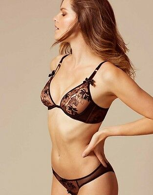 dbfb02bd5f AGENT PROVOCATEUR PETRA Peekaboo Bra   Brief Set Size 34D Medium 10 ...
