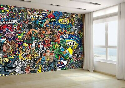 Sports Collage on Wall Graffiti Wallpaper Mural Photo 64362878 budget paper