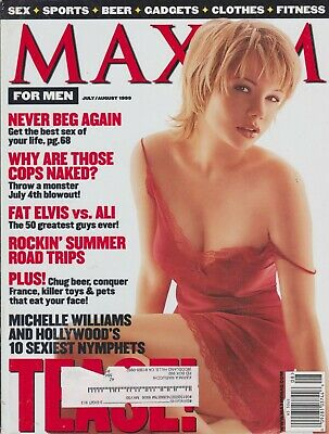 MAXIM Magazine #20 JULY/ AUGUST 1999-B -  Michelle Williams Angelica Bridges !!!