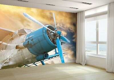 Plane With Propeller Wallpaper Mural Photo 76477212 budget paper