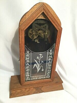 Vintage Mantle Clock - Parts or Repair - Gorgeous Pendulum