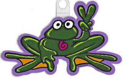 "Peace love Frog sticker *H142* 8/"" vinyl toad gig"