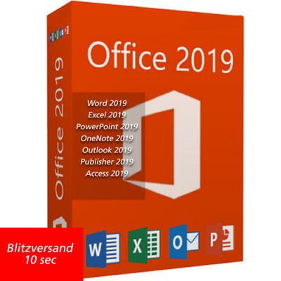 Microsoft Office Professional Plus 2019 - Instant Delivery - Original New Key