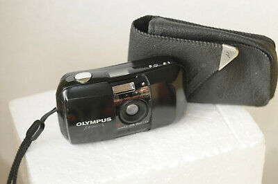OLYMPUS MJU-1 35mm COMPACT  CAMERA+ OLYMPUS CASE+ INSTRUCTIONS+ STRAP. TESTED !