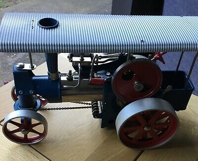 Vintage Live Steam Model Toy D 40 Wilesco Traction Engine