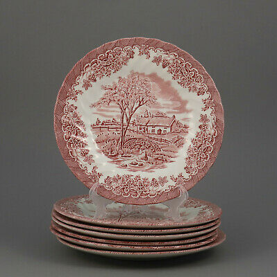"Ein Dessertteller ca 20 cm  ""The Brook"" Churchill  rot England teller"