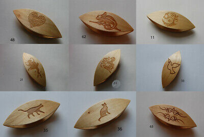 Wooden Tatting Shuttle Hand Made in Maple Decorated With Engraving Assortiment