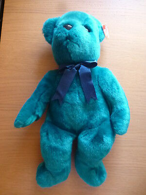 TY Beanie Buddies Baby Teddy (Teal) from 2000 - with tags