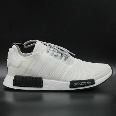 pretty nice c5577 f52b4 ADIDAS NMD R1 Men Size 11 Running Shoes Ivory White Black Boost Primeknit  D97215
