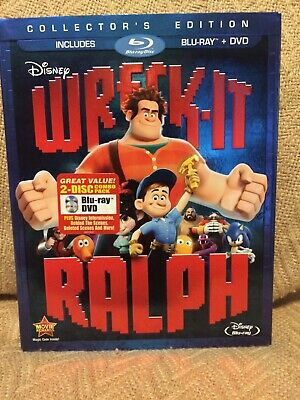 Wreck-It Ralph (Blu-ray/DVD, 2013, 2-Disc Set) Disney With Slip Cover Sleeve