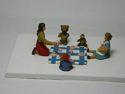 54mm figures of a childrens tea party
