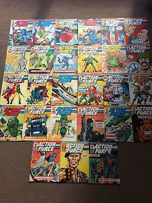 27 x Marvel ACTION FORCE Comic 1987-88