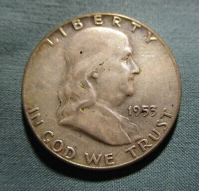 1953 P Franklin Half Dollar - US 50 Cents silver coin