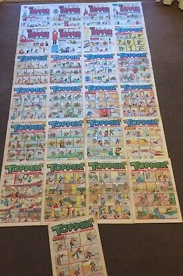 1975 THE TOPPER & BUZZ comics x 22