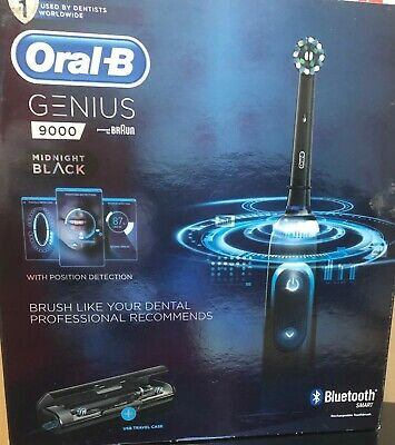 Braun Oral-B Genius 9000 Toothbrush/Charging Travel Case - BLACK - * Bluetooth *