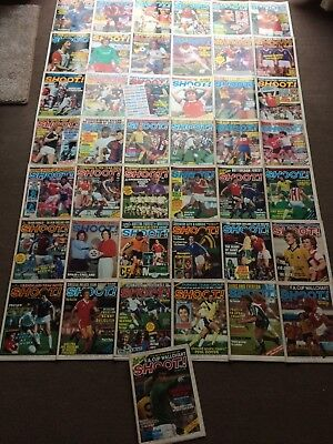 43 x 1980 SHOOT Magazines - Including League Ladders