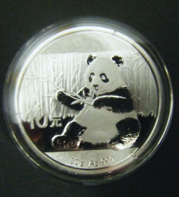 2017 China Silver Panda coin 1 oz .999 Fine 10 Yuan Chinese in Capsule