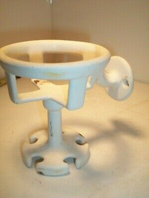 Vintage PORCELAIN LOOK TOOTHBRUSH & CUP HOLDER French MCM Bathroom Fixture