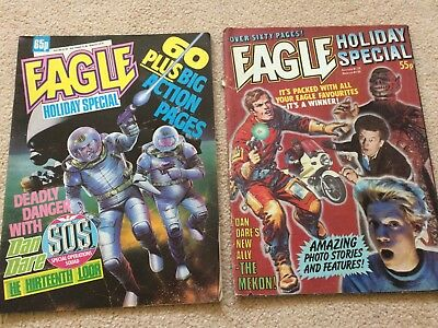 2 x EAGLE HOLIDAY SPECIALS 1983 &1986 DAN DARE