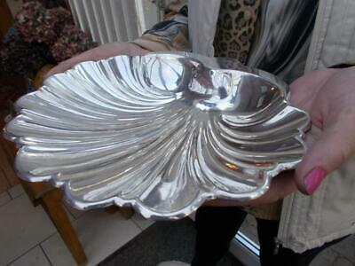 Pretty Scallop Shell Shaped Silver Plated Dish Or Bowl Centrepiece Bon Bon Etc