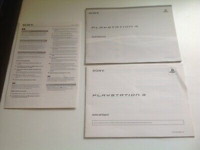 Sony Playstation 3 PS3 console instruction manual genuine original