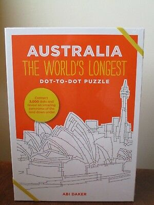 Quirky & Fun New Puzzle Book: AUSTRALIA The World's Longest Dot-to-Dot Puzzle!
