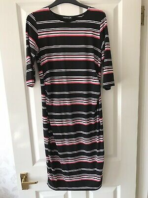 Boohoo Striped Maternity Dress Size 12