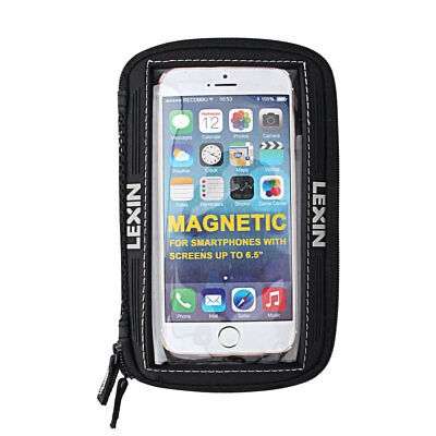 Newest Lexin Motorcycle Magnetic Sportbike Tank Bag 6.5 Inch Black Phone Holder