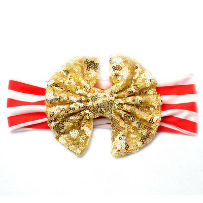 Bow Baby Headband Turban Knot Hair Accessories Infant Girls New Gold O30