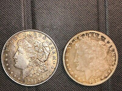 1921 Morgan Silver Dollar Coins Lot of x2!!