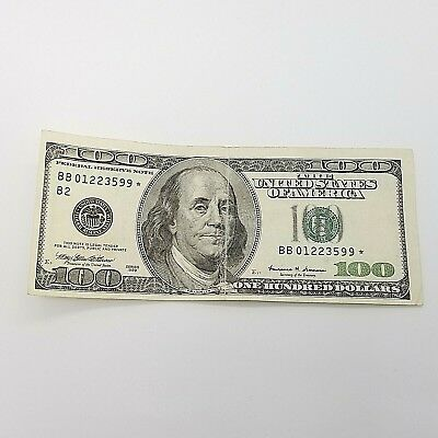 1999 One Hundred $100 Dollar Bill Federal Reserve Banknote **Star Note Series**