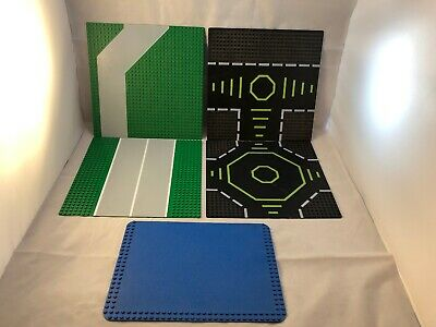 LEGO Baseplates, Lot Of 14. Rare & Scarce , Printed 48x48 Runways,walkways+ More