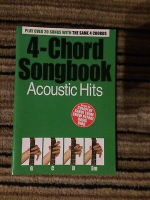 4-Chord Songbook: Acoustic Hits Guitar (with Chord Boxes) Sheet Music Mixed Song