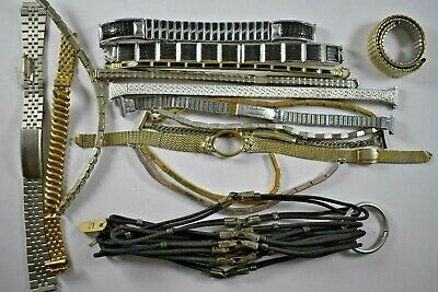 Mixed Lot of Vintage Ladies Wrist Watch Bands GF/SS/Sterling LOT#1