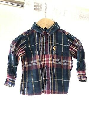 Joules Baby Boy Checked Shirt 3-6 Months
