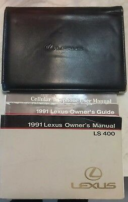 1991 Lexus Ls400 Owners Manual And Other Manuals In Leather Case