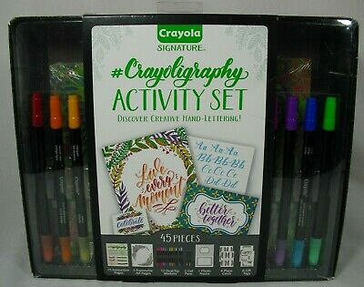 Crayola Signature Crayoligraphy Activity Set 45 Pieces Hand Lettering Tutorials