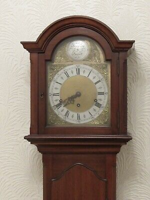 Antique Grandmother Clock Long Case Mahogany