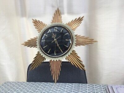 Vintage Retro Metamec 1970's Sunburst Wall Clock.